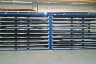 forklift storage rack metal sheeting