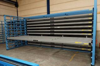 metal sheet storage rack