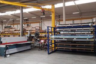 industrial metal sheet storage solution