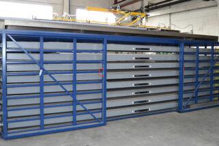 pull-out drawers metal sheet rack