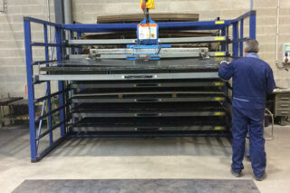vacuum lifter metal sheets rack