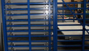 roll-out sheet metal rack shelving