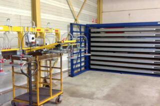 plaatrek vacuüm opslag stockage staal rvs aluminiumplaten
