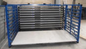 overhead crane steel sheet rack
