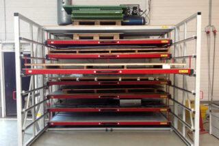 aluminum sheet storage