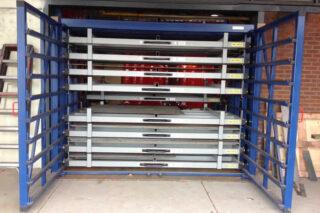 rack for metal sheeting