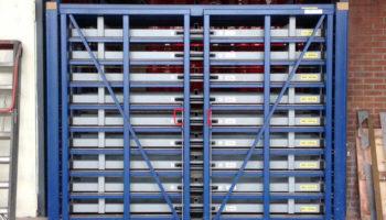 Metal sheeting rack