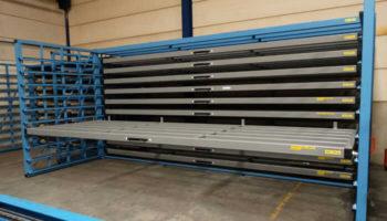 sheet metal shelving