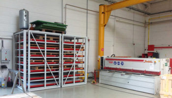 High storage density sheet plate rack