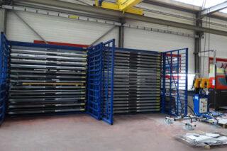 sheet metal pallet rack