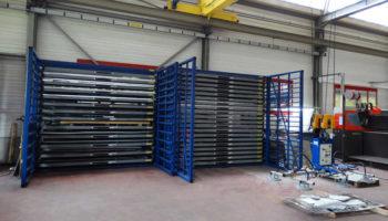 Sheet metal pallets rack