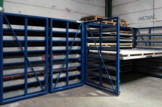 opslag plaatmateriaal metaalindustrie