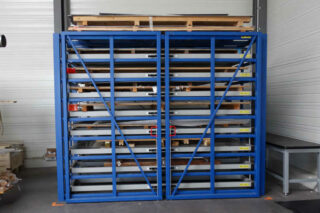 compacte opslag plaatmateriaal reststukken metaal