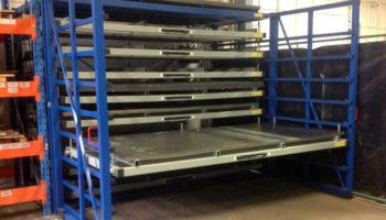 Steel sheet storage solution