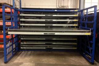 uitschuifbare lades stalen platen RVS aluminium