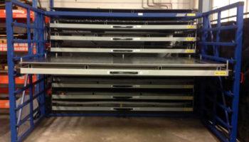 Steel sheets pallets storage rack
