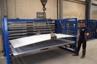 rolbrug kraan opslag staalplaten aluminium