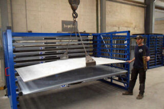 aluminum sheeting horizontal rack