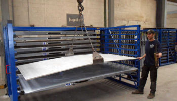 crane lift heavy steel plate rack