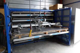 horizontal metal plate rack