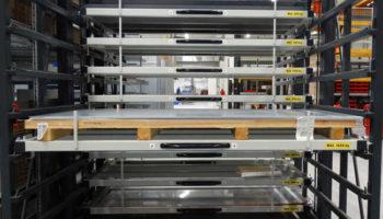 aluminium plates storage rack