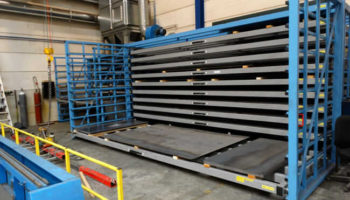 racking system for metal sheets