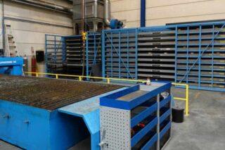Efficiënte opslag metalen platen rek