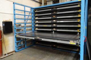 pull-out shelve sheet metal rack