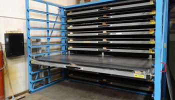 roll-out drawers easy handling sheet rack