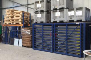 compacte stockage platen reststukken