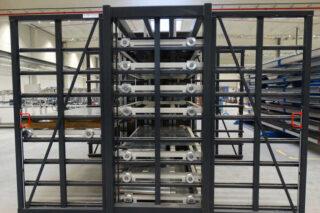 double-sided metal sheet rack