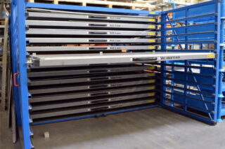 shelving solution for metal sheets