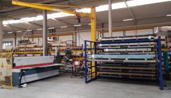 jib crane metal sheet rack