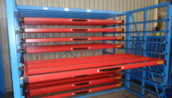 pull out rack for steel plates
