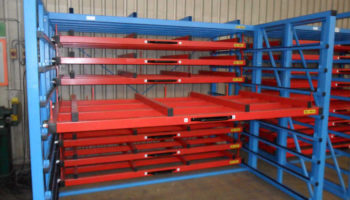 pull out racking for sheet metal