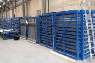 compact high capacity metal sheeting storage