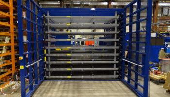 pivoting doors steel sheet rack