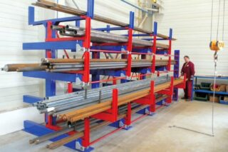 storage solution for steel bars pipes tubes