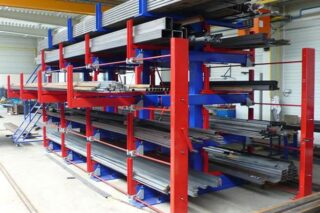 efficient compact storage of metal tubes pipes