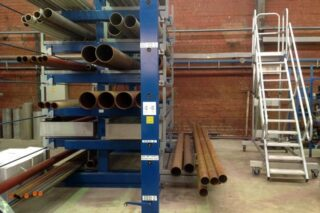 manual lever roll out cantilever rack pipes