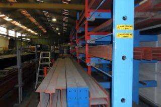steel profiles storage rack