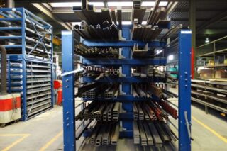 compact workshop cantilever rack profiles bars steel iron aluminum