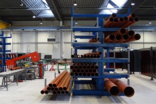 Double sided cantilever rack warehouse