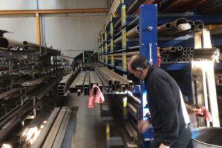 uitrolbare lades rek metaalbewerking industrieel