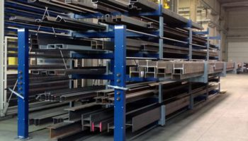 steel bar storage manual winch cantilever
