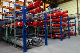 eurostorage pipe storage rack cantilever