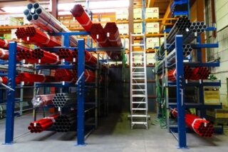 tubing pipes storage cantilever rack