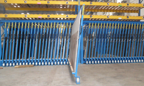metal sheeting storage