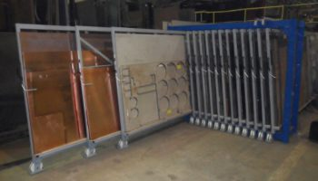 steel brass sheets vertical rack