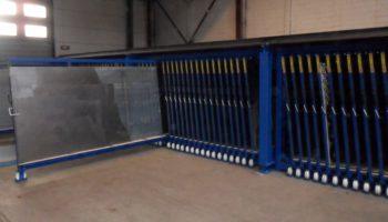 verticale platenstelling rvs aluminium